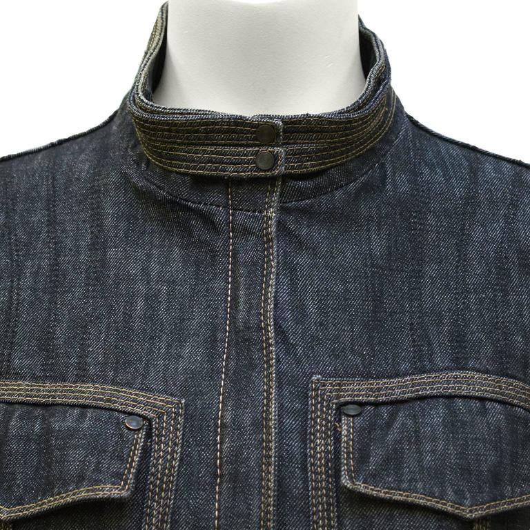 2002 Tom Ford Era Gucci Fitted Jean Jacket  5