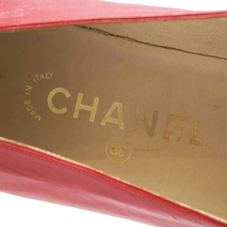 1980's Chanel Red Lady Pumps 5