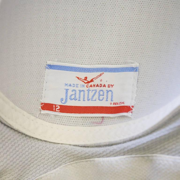 Women's 1960's Jantzen Brown One-Piece Polyester Bathingsuit For Sale