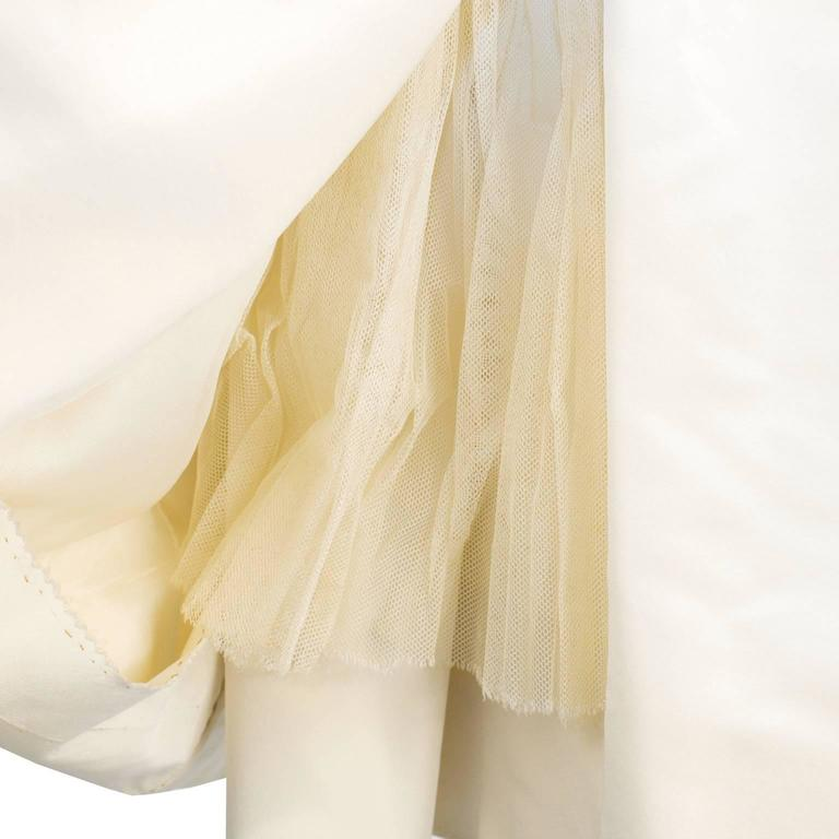 Early 1950's Dior Beige Silk Robe du Soir 5