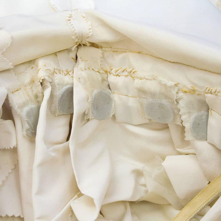 Early 1950's Dior Beige Silk Robe du Soir 6