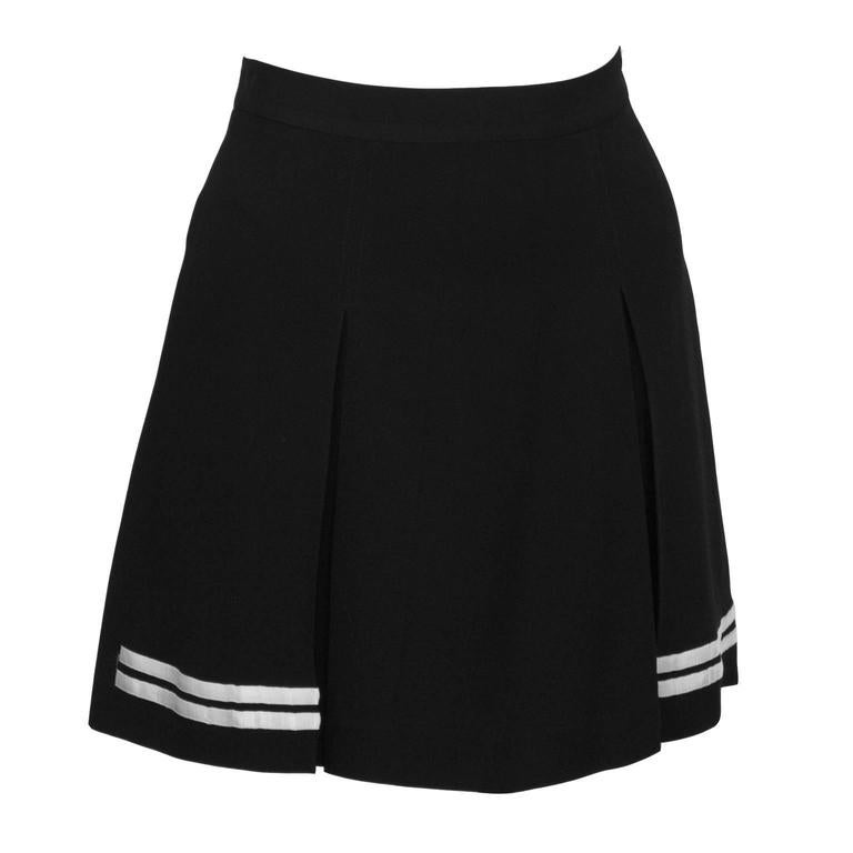 1990's Dolce & Gabbana Black and White Mini Skort 2