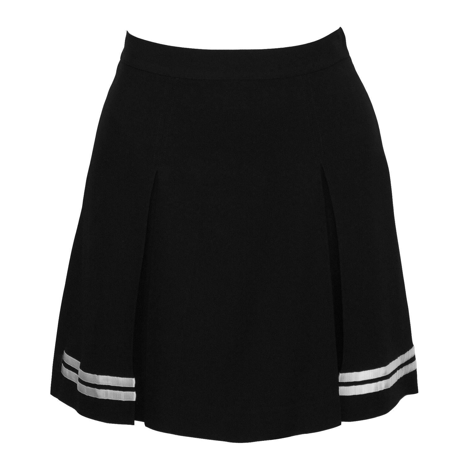 1990's Dolce & Gabbana Black and White Mini Skort