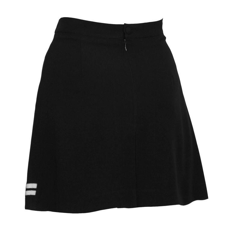 1990's Dolce & Gabbana Black and White Mini Skort 3