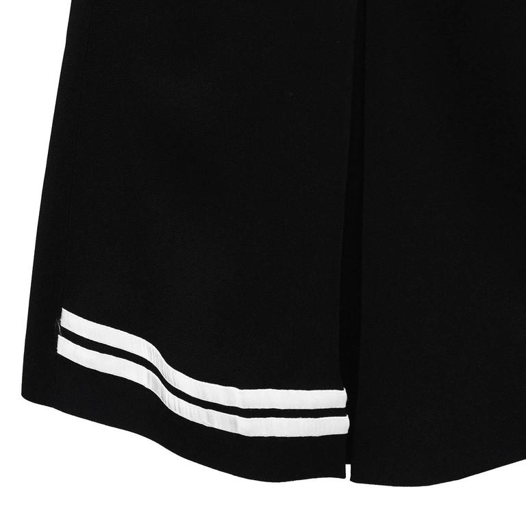 1990's Dolce & Gabbana Black and White Mini Skort 4