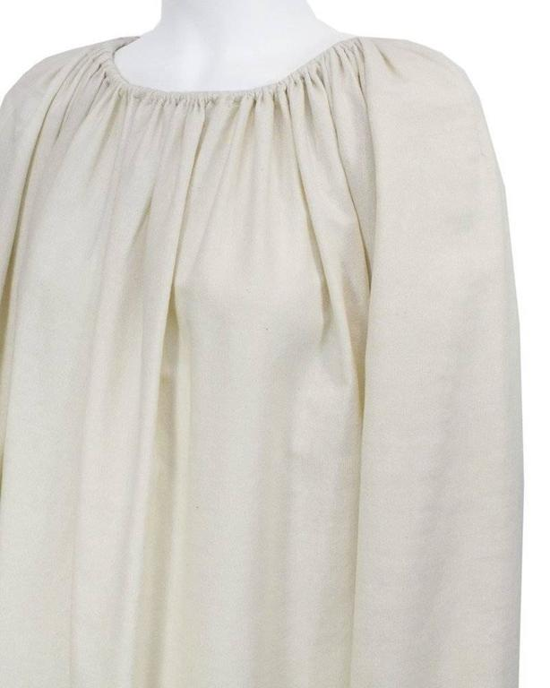 1970's Lanvin Cream Linen Smock Top 4