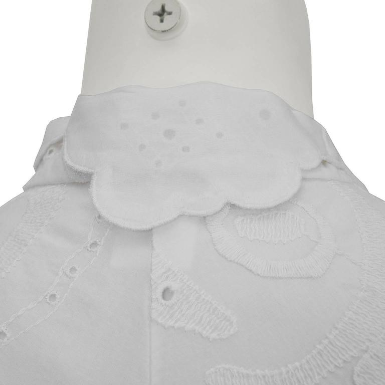 2000's Pucci White Eyelet Top With Patterned Belt 6