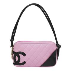 2004 Chanel Pink Ligne Cambon Quilted Pochette Bag
