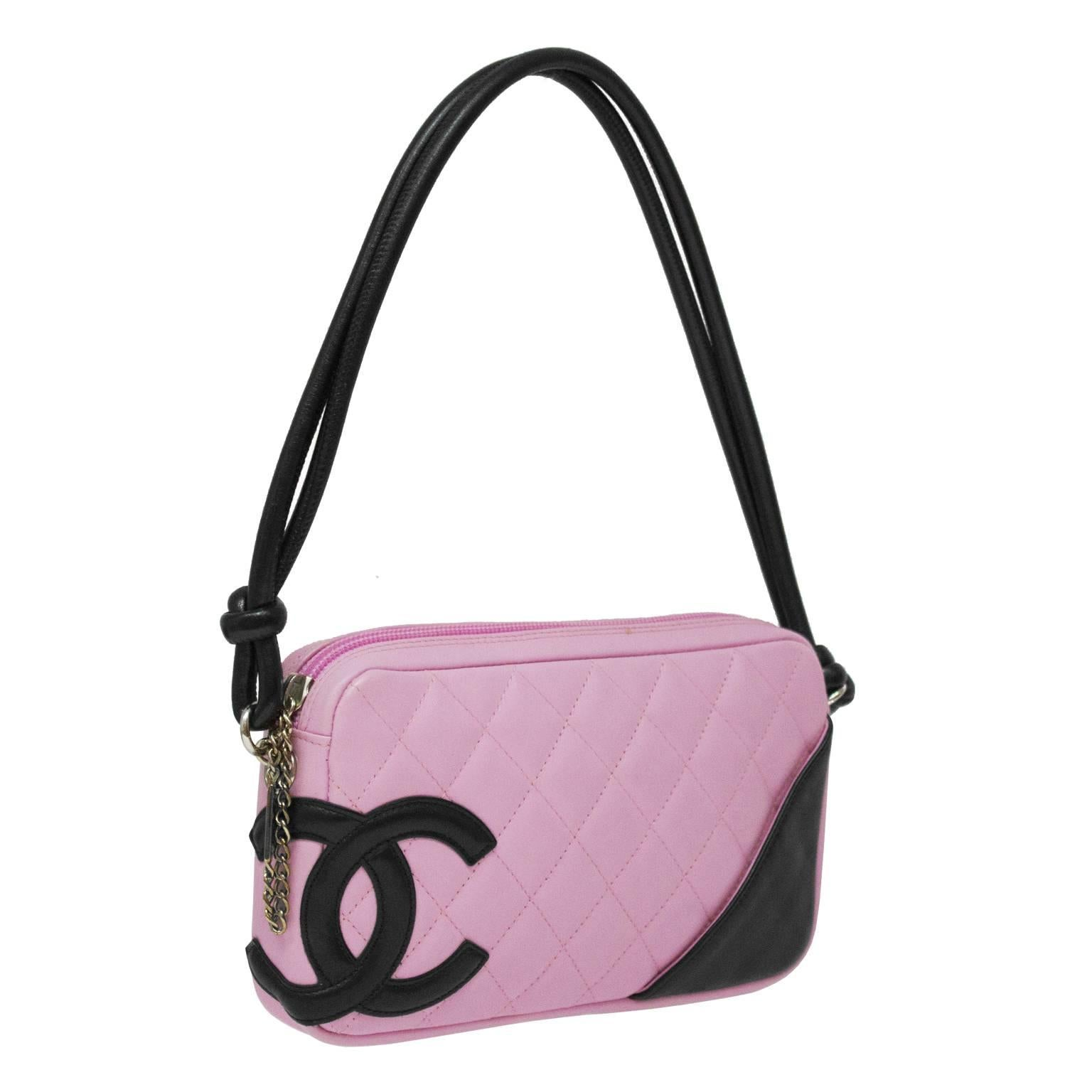 910fd345531f 2004 Chanel Pink Ligne Cambon Quilted Pochette Bag at 1stdibs