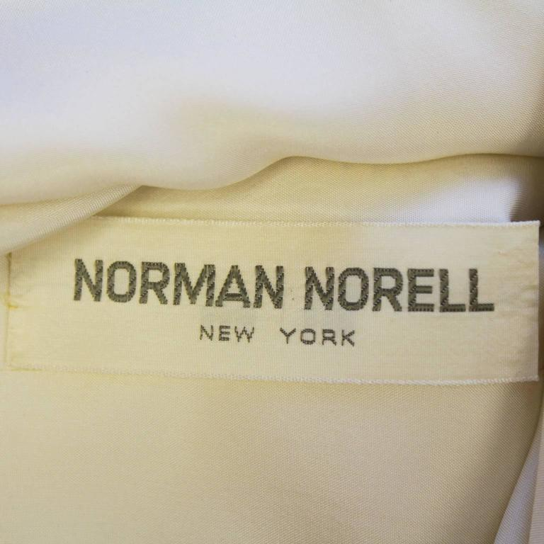 1960's Norell Beige Dress With Large Jewels For Sale 1
