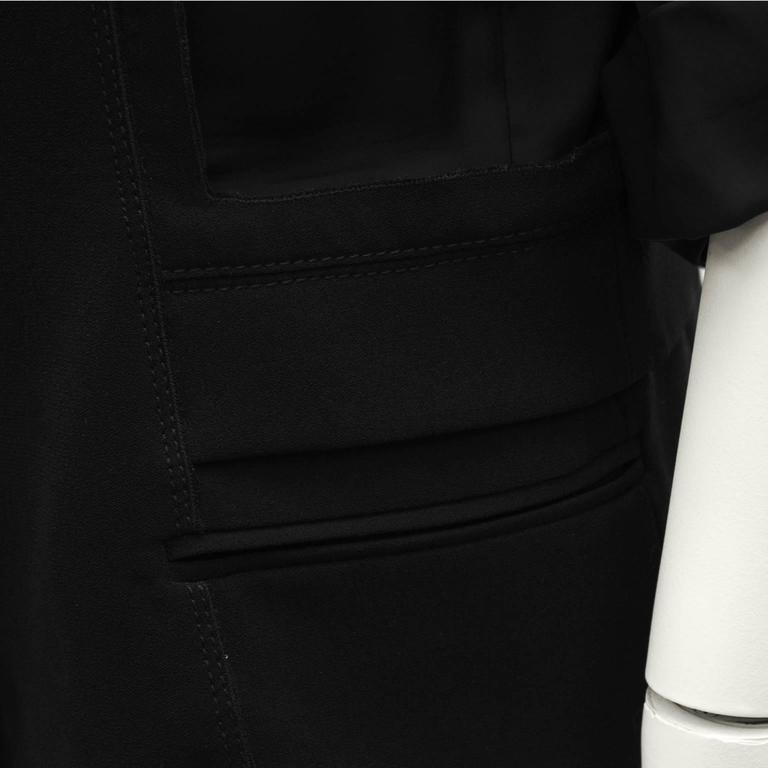 2000's Prada Black Jacket with Rhinestone Flowers  For Sale 1