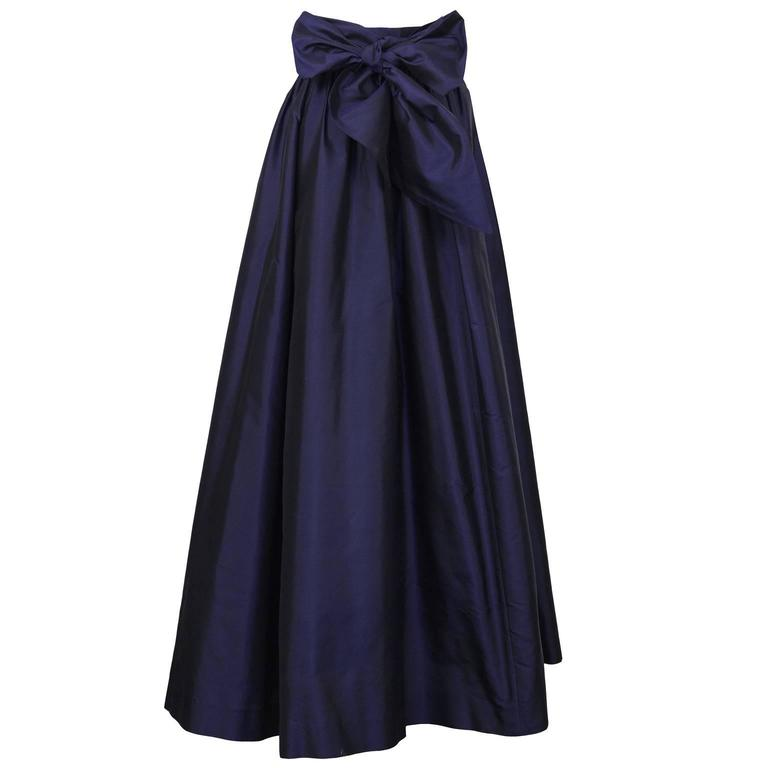 2000\'s Catherine Regehr Navy Silk Taffeta Ballgown Skirt For Sale at ...