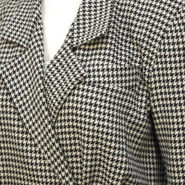 1980's Michael Kors First Collection Houndstooth Top In Excellent Condition For Sale In Toronto, Ontario