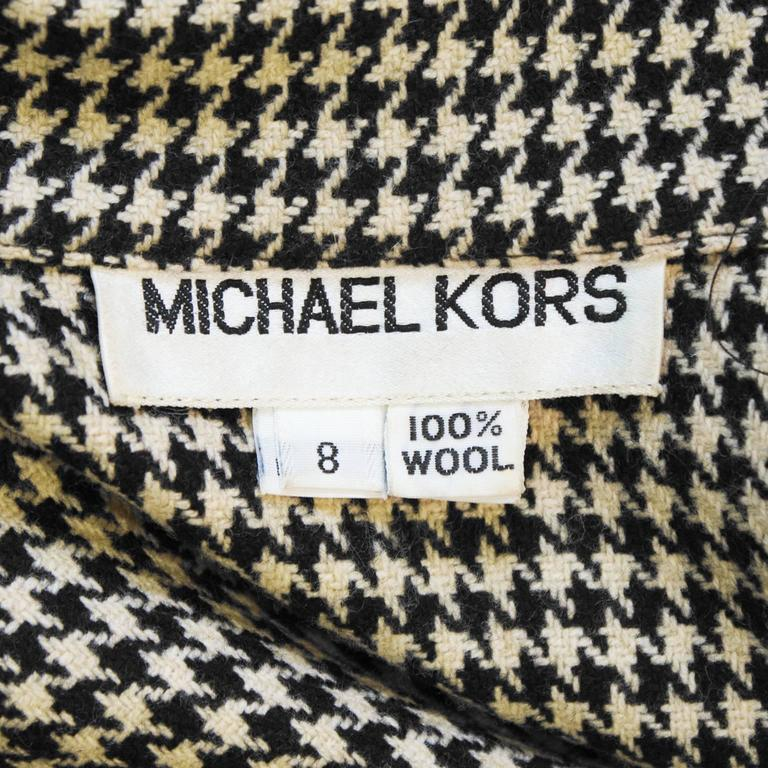 Women's 1980's Michael Kors First Collection Houndstooth Top For Sale