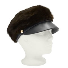 1960's Madcaps for Bonwit Teller Mink and Leather Cap