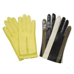 1960's Pairing Of Leather And Vinyl Gloves