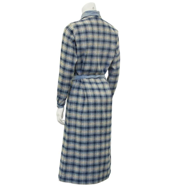1973 Kenzo Jap Collection Plaid Wool Dress 3