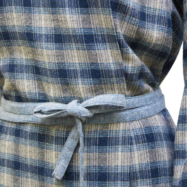 1973 Kenzo Jap Collection Plaid Wool Dress 5