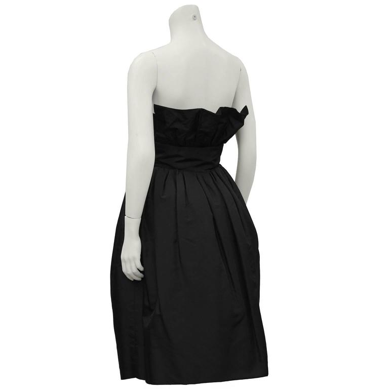 1960 39 s french couture black taffeta pouf cocktail dress for French couture dresses