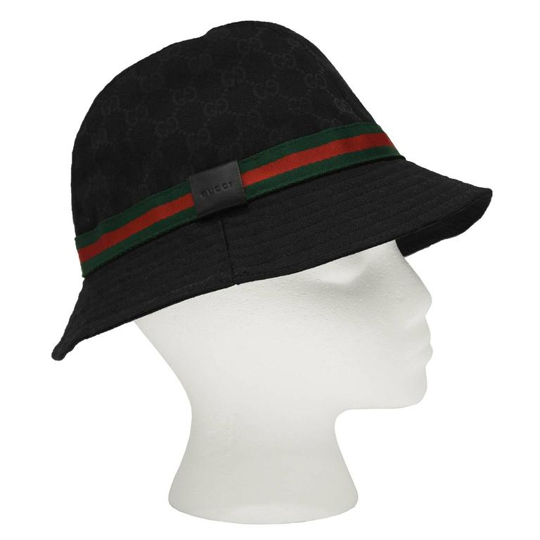 2000 39 s gucci black canvas monogram bucket hat at 1stdibs. Black Bedroom Furniture Sets. Home Design Ideas