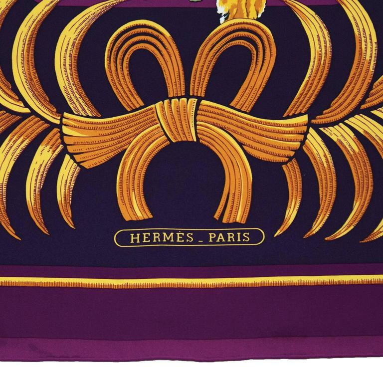 1992 Hermes Tigre Royal Silk Scarf At 1stdibs