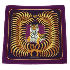 1992 Hermes 'Tigre Royal' Silk Scarf