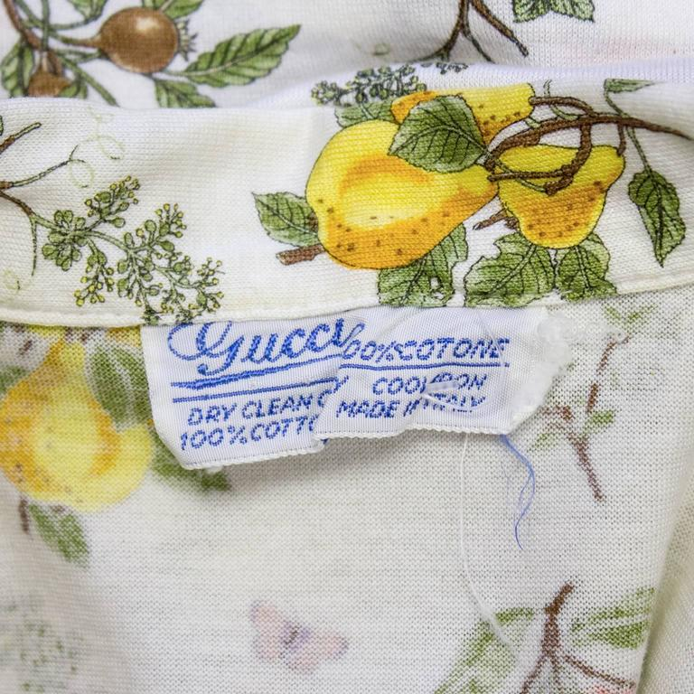1970's Gucci Floral Polo Top 6