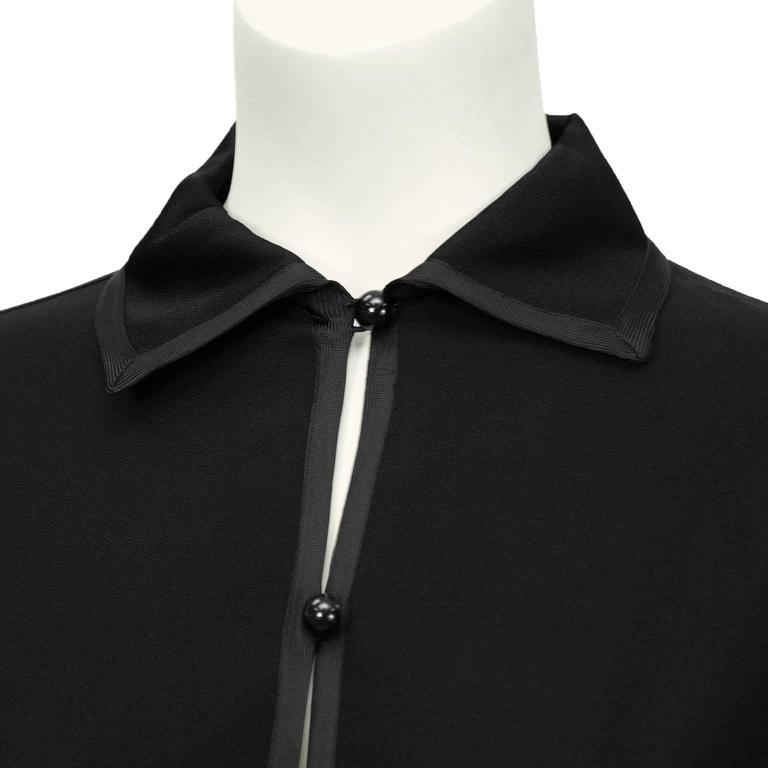 1970's Yves Saint Laurent YSL Black Silk Crepe Blouse 4