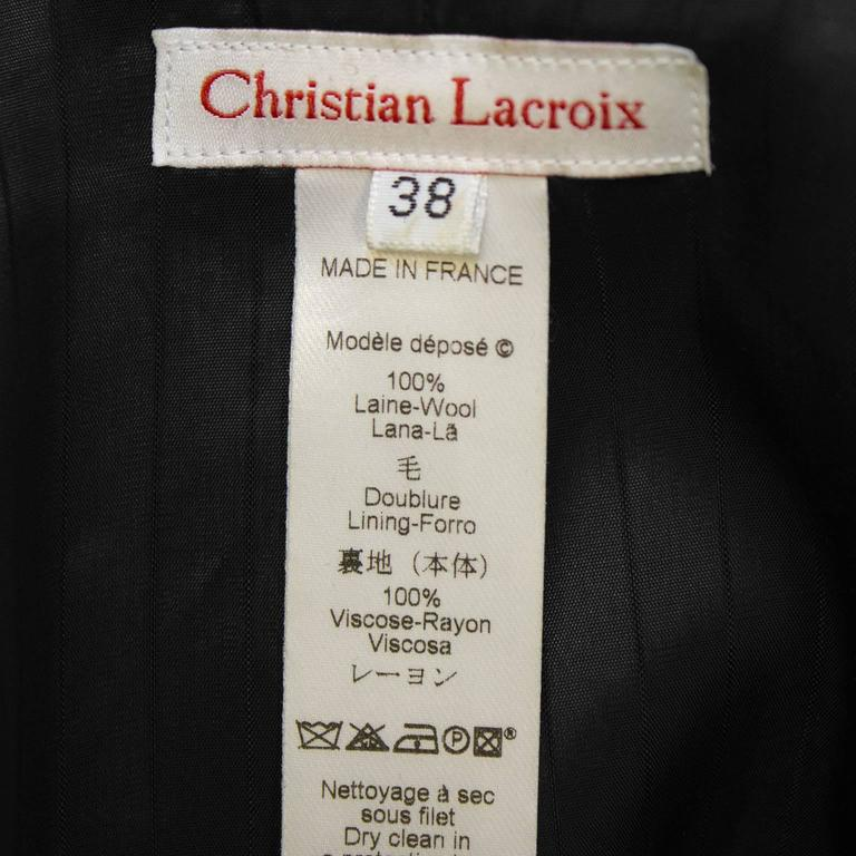 Women's Early 2000 Christian Lacroix Jeweled Wool Blazer For Sale