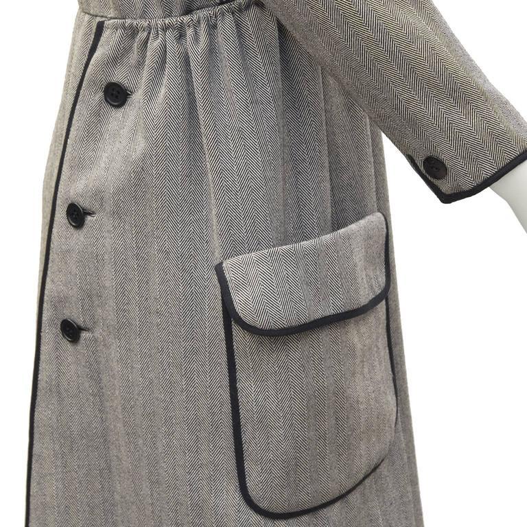 1960's Geoffrey Beene Herring Bone Dress  4