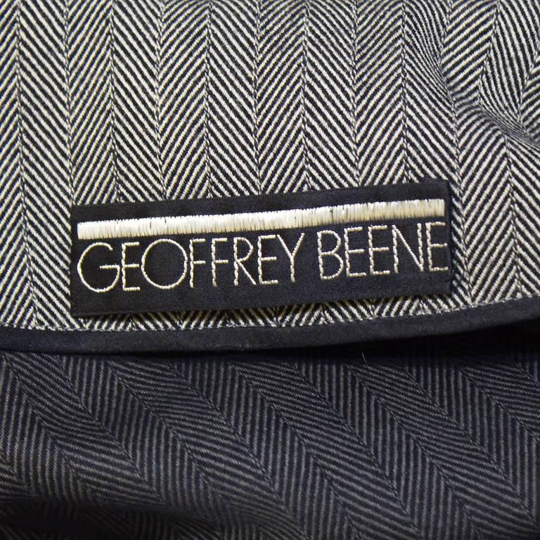 1960's Geoffrey Beene Herring Bone Dress  7
