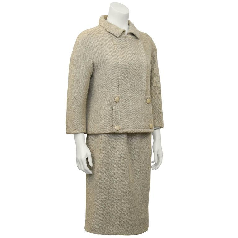 1960s balenciaga haute couture beige wool suit for sale at for Haute couture suits