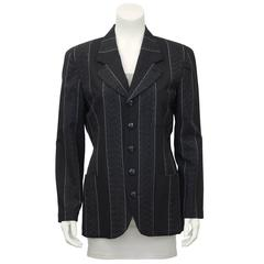 1990's Matsuda Ladies Grey Pin Stripe Blazer
