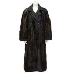 1990's Koos Van Den Akker Couture Mink and Patchwork Coat