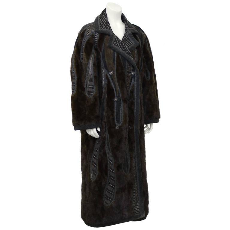 1990's Koos Van Den Akker Couture Mink and Patchwork Coat 2
