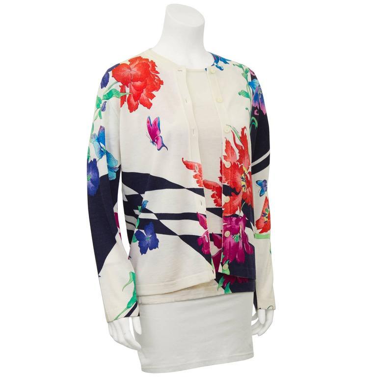 1980's Leonard Floral Pattern Sweater Set 3