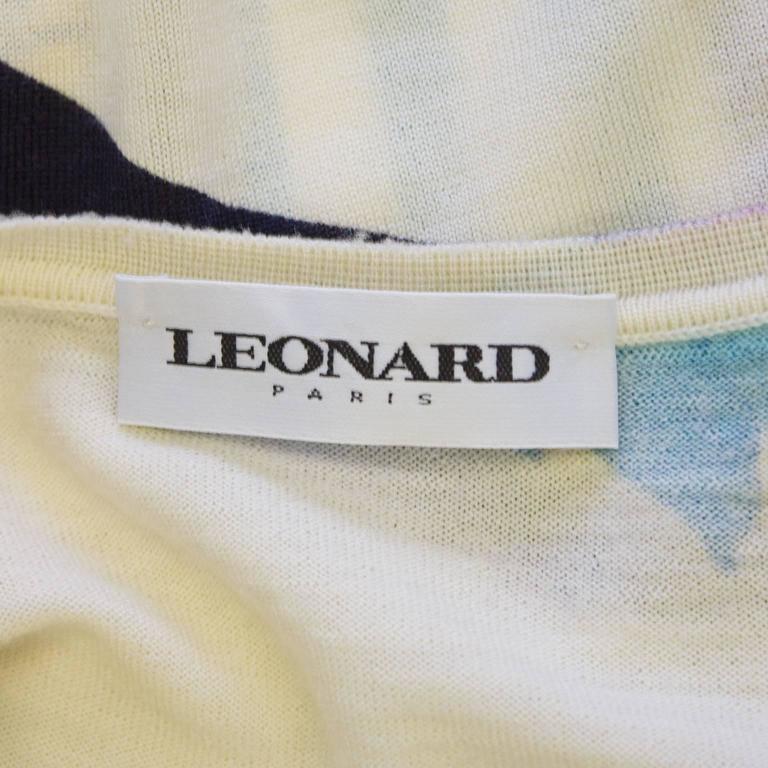 1980's Leonard Floral Pattern Sweater Set 5