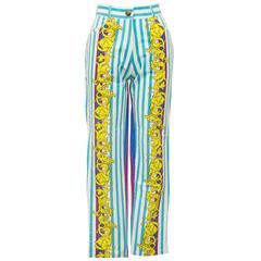 1980's Stretch Jean Style Patterned Pant