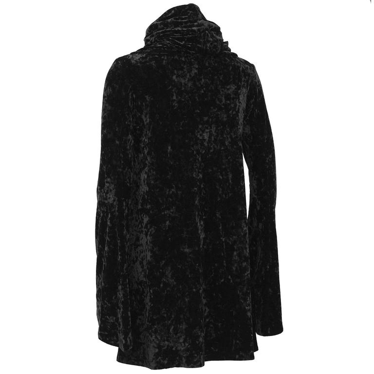 1990's Black Panne Velvet Norma Kamali Bell Sleeve Mini 3