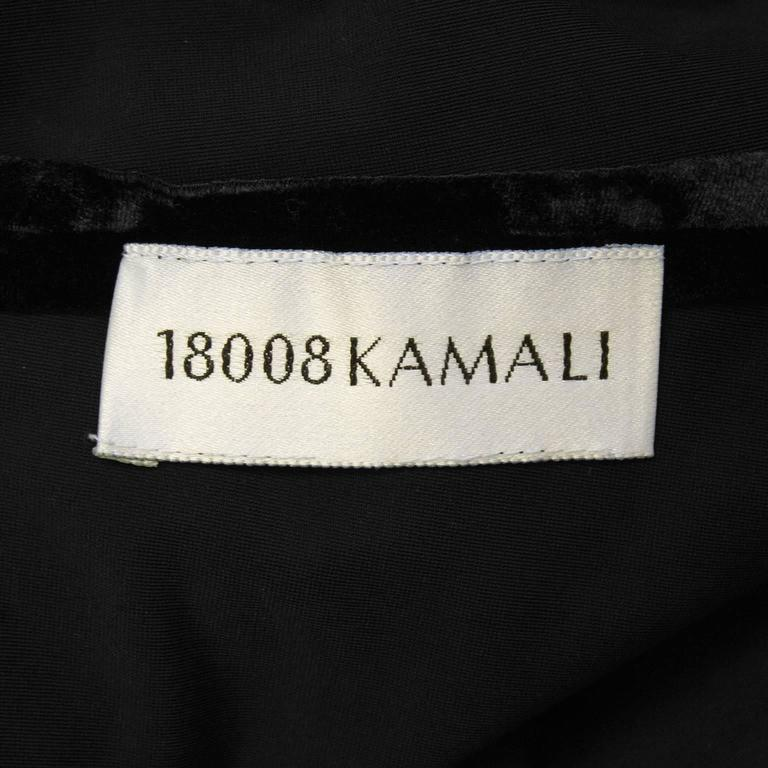 1990's Black Panne Velvet Norma Kamali Bell Sleeve Mini 6