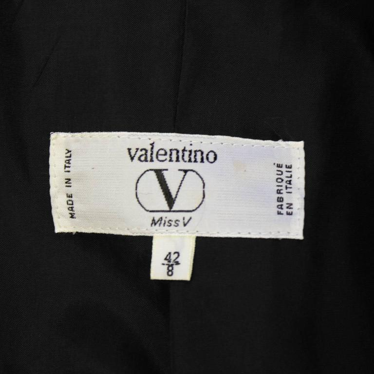 1990's Valentino Yellow Black and White Plaid Wool Blazer For Sale 1