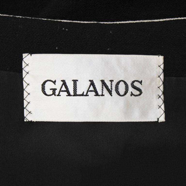 1960's Galanos Black Dress with Pocket Details For Sale 1
