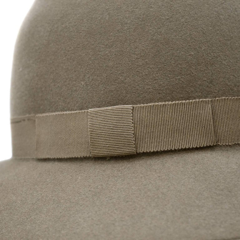 1970 s Yves Saint Laurent YSL Taupe Bowler Hat For Sale at 1stdibs 43366e700e8