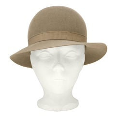 1970's Yves Saint Laurent/YSL Taupe Bowler Hat