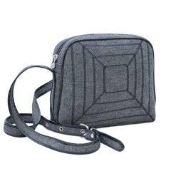 1980s Fendi Lurex Bag with Patent Trim