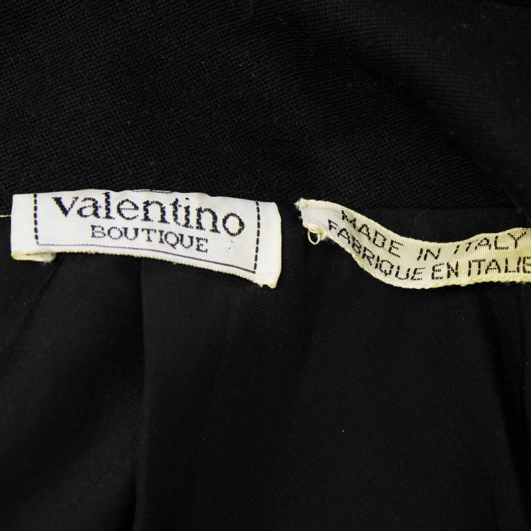 1980's Valentino Black Jacket with Gold Lurex Trim' For Sale 2
