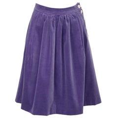 1971 Gudule Paris Lavender Velvet Skirt