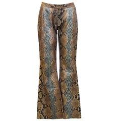 1990's Tom Ford Era Gucci Genuine Python Skin Pants