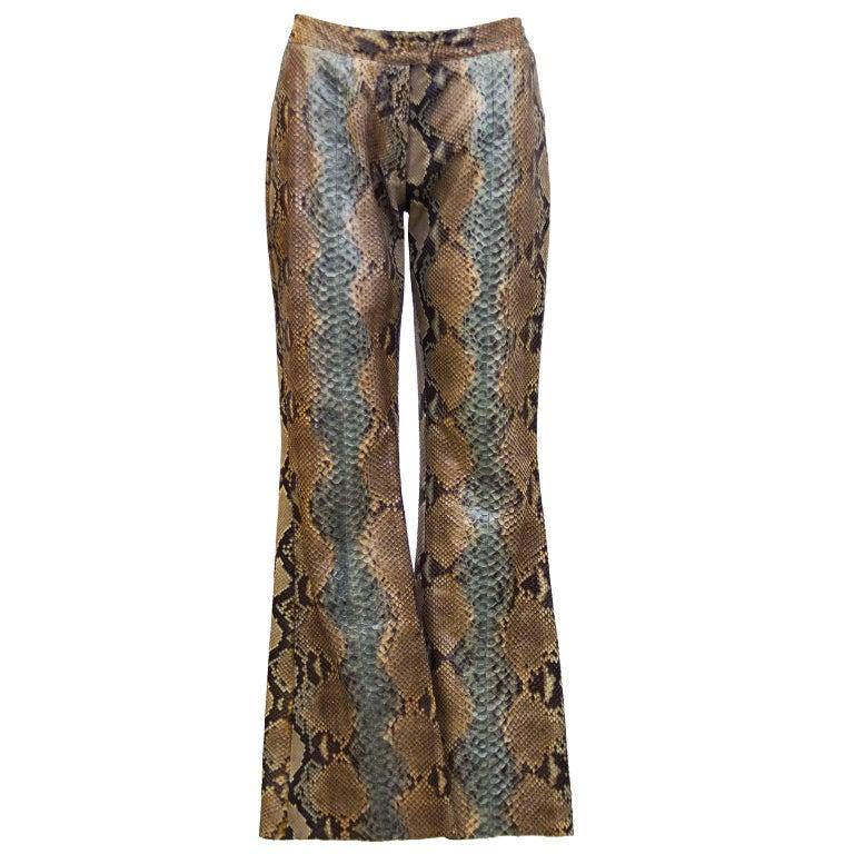 1990's Tom Ford Era Gucci Genuine Skin Pants For Sale