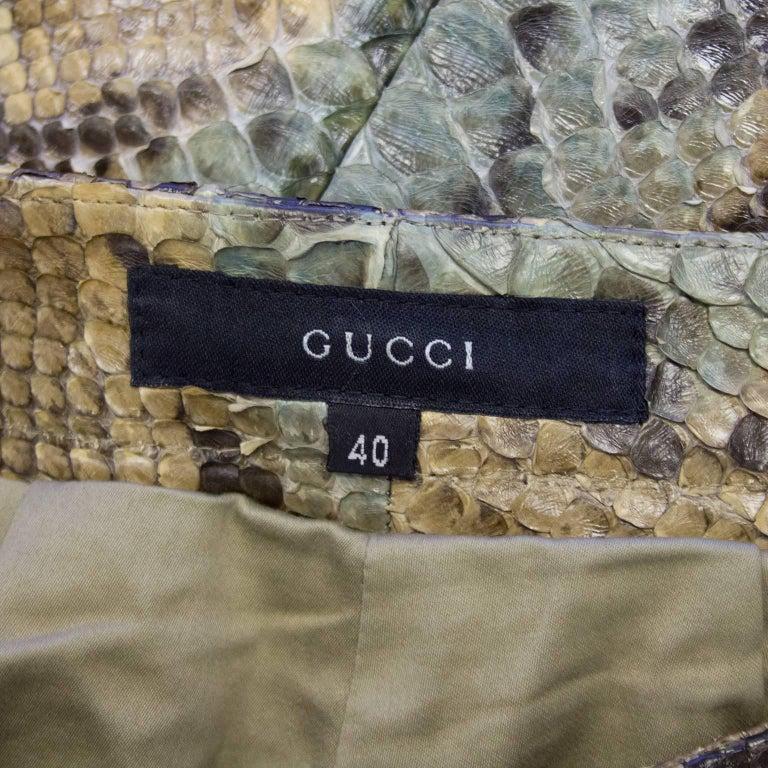 1990's Tom Ford Era Gucci Genuine Skin Pants For Sale 1